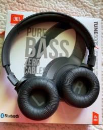 Fone de Ouvido Bluetooth JBL Original TUNE 500BT Semi Novo Sem Fio Cor Preto Usado