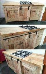 Fabrico balcão para fogão loop tpde madeira de pinus