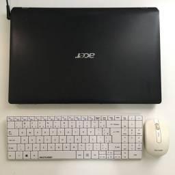 Notebook Acer Core i3 500hd 4GB RAM + teclado e mouse
