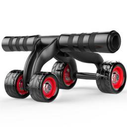 Rolo para exercício abdominal e lombar 4 rodas