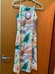 Vestido Midi de Malha Farm M
