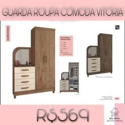 Título do anúncio: Guarda roupa cômoda Vitória/ guarda roupa cômoda vitória/ guarda roupa cômoda vitória- 833
