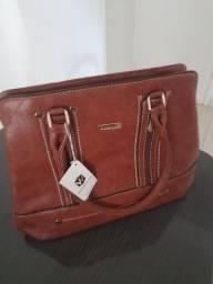 Vendo bolsa couro marrom