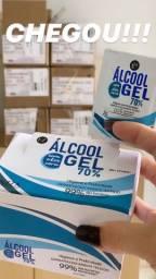 Caixa sachê álcool 70%
