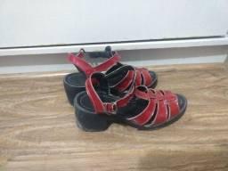 Sapato salto plataforma vermelho