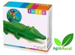 Boia Inflável Intex Jacaré Aligator. Lagoa, Praia E Piscina