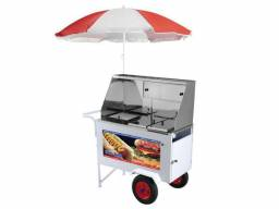 carrinho de hot dog de luxo, rodas maciças Armon Xdlm-007