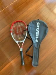 Raquete de Tênis Wilson Federer + bolsa head