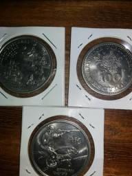 Lote de 3 moedas raras e belíssimas de Portugal