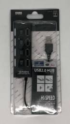 Régua Com 4 Portas Usb 2.0 Hub Hi-speed 500Gb Produto Novo na Embalagem