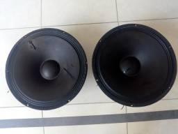 Dois auto falantes 15 polegadas