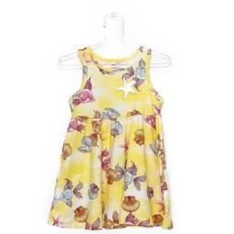 Vestido Cativa Kids Amarelo Fundo Do Mar TAM 3