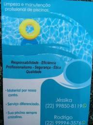 Piscineiro/ limpeza de piscinas