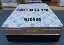 Conjunto box casal molas ensacadas por apenas 999,00 a vista