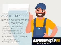 Oportunidade de emprego - Técnico de Refrigeração