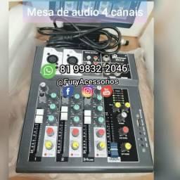 Mesas de áudio 4 canais