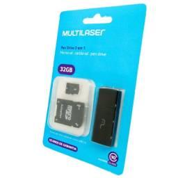Cartão 32Gb micro SDHC - C/adaptador + pen drive