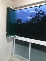 Cortina de vidro para sacadas