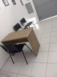 Conjunto três cadeiras novas para escritório