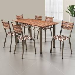 Belíssima Mesa com 06 Cadeiras. Produto Novo Direto da Fábrica, com Nota Fiscal