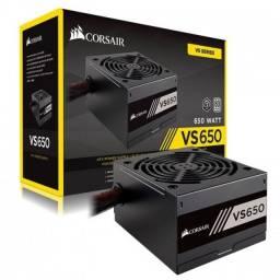 Fonte 650w Corsair - 80 Plus - Real - PFC Ativo - VS 650 - Loja Coimbra Computadores