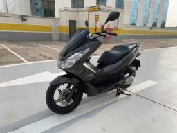 Honda pcx 150 único dono=led 2017 cinza