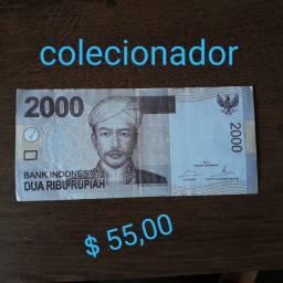 Dinheiro estrangeiro colecionador