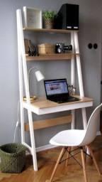 Escrivaninha estante de madeira