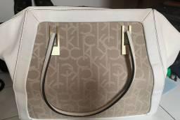 Bolsa de couro Calvin Klein