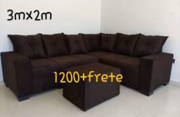 Sofa gran luxo canto 3x2m so 1199,99 leia o anuncio!