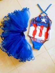 Fantasia infantil capitão América