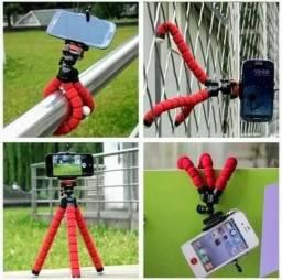 Mini Tripé Flexível + Suporte p/ Celular Gopro Câmera Universal
