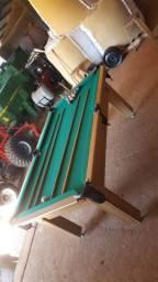 Mesa Tentação Carlin Cor Cerejeira Tecido Verde Mod. YNQX9192