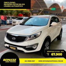 Sportage Automático - 2015 - Único dono, revisada na Kia. Raridade! Troca e financia.