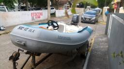 Bote inflavel flexboat SR 12 SLX + motor yamaha 40 hp + carreta