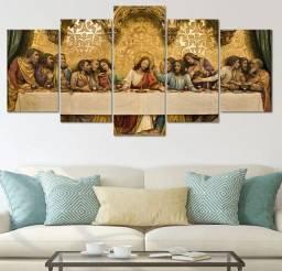 Quadros Decorativos santa ceia quarto sala religioso Jesus