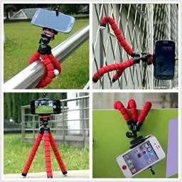 Mini Tripé Celular Suporte Flexível Regulável Universal Câmeras Polvo Apoio Mesa