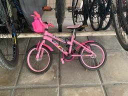 Bicicleta Infantil aro 16 (Super Conservada) com adesivos da Frozen