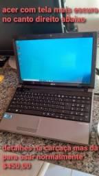 Notebook acer i3 6gb de memória