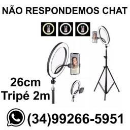 Ring Light Grande Tripé 2 metros - 26cm * Fazemos Entregas