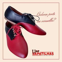 Título do anúncio: Sapato feminino vermelho com preto