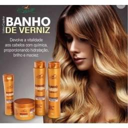 Kit shampoo Banho de Verniz 4produtos