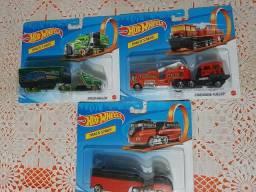 Hot Wheels Lote com 3 caminhões Série Track Stars lacrados!