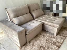 Sofa Retrátil e Reclinável luxo 2,30 (Novo Lacrado ) Sofá Casa Verde !!