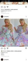 Vendo vestido lilás
