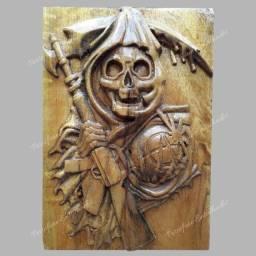 Seifadora Entalhado em madeira