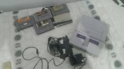 (PEÇAS) Super Nintendo com fitas