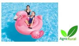 Bóia Inflável Flamingo. Para Adultos E Crianças. Praia, Piscina E Lagoa