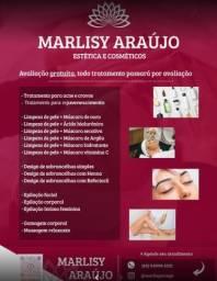 Estética, esteticista, limpeza de pele, design de sobrancelha, epilação, depilação