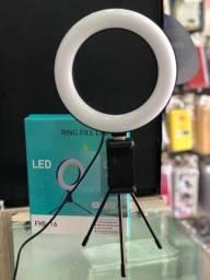 Kit Ring Light Usb 16cm /tripe E Suporte P/ Celul